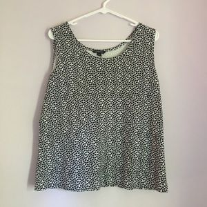 Lands' End Black and White Tank Top